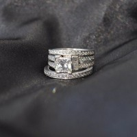 Have You Seen the Ring?: GIA 1.22ct Princess Engagement Ring, Wedding & Eternity Bands