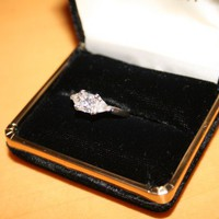 Have You Seen the Ring?: Platinum 1.03ct Rectangular Diamond Engagement Ring