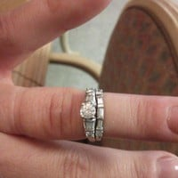 Have You Seen the Ring?: Platinum Engagement 1.0ct Ring and Wedding Band