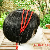 Knit Headband - 3 Strand Headband in Red - Hair Accessories - Womens Hair Accessories - Child Teen Hair Accessories