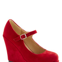 Take the Podium Wedge in Red | Mod Retro Vintage Wedges | ModCloth.com