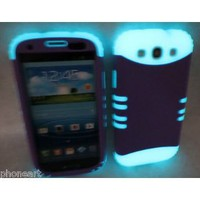 Amazon.com: Samsung Galaxy S III S3 Fluorescent Purple Glow in the Dark Cover Case Hybrid: Everything Else