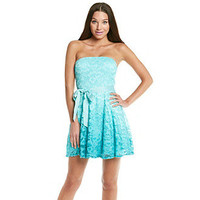 As U Wish® Juniors' Lace Ombre Party Dress at www.bonton.com