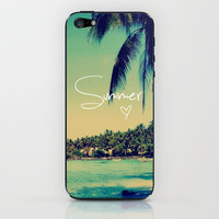 Summer Love Vintage Beach iPhone & iPod Skin by RexLambo