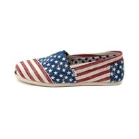 Mens TOMS Stars & Stripes Classic, Red White Blue  Journeys Shoes
