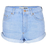 MOTO Blue High Waisted Hotpant - New In This Week - New In - Topshop USA