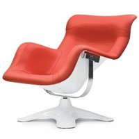 Karuselli chair, white-red