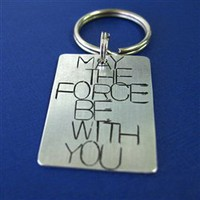 May the Force Be With You Key Chain - Spiffing Jewelry