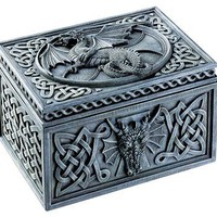 Dragon Celtic Jewelry Box - Collectible Tribal Container Sculpture