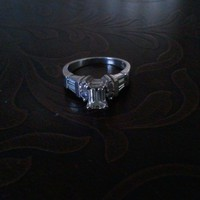 Have You Seen the Ring?: Platinum Emerald Cut 1.28tcw Engagement Ring