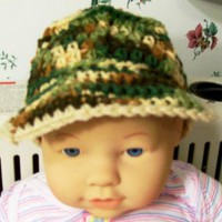 Baby Boy Crochet Marine Hat Camoflage No17 by HandmadeGiftsbyBarb on Zibbet