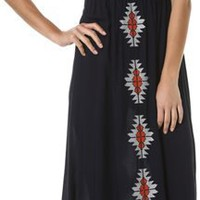 THML BIB PRINTED MAXI DRESS | Swell.com