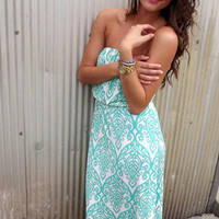 Mint Damask Maxi | The Rage