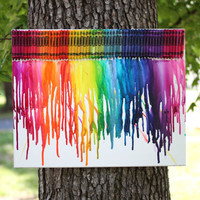 Melted Crayon Art - 11 x 14 Canvas