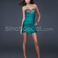 Sexy Sheath/Column Sweetheart Neckline Rhinestones Mini Cocktail Dress -SinoSpecial.com