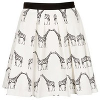 Kissing Giraffe Pleated Skirt - Skirts  - Clothing