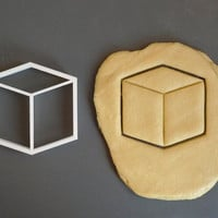 Cube 3D cookie cutter 1, 3D printed