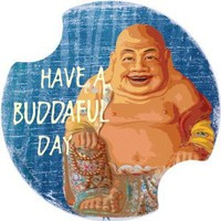 Amazon.com: Buddahful Day Buddah Car Boat Truck Coasters Set of 2 Carsters Thirstystone: Kitchen & Dining