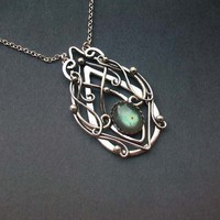 Truly Elvish Pendant Sterling Silver Celtic Elven by ElnaraNiall
