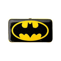 DC Comics Batman Logo Glitter Hinge Wallet | Hot Topic
