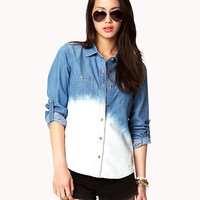 Life in Progress™ Ombré Denim Shirt | FOREVER 21 - 2023321123