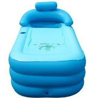 Folding Inflatable Bathtub Portable bath tub Spa Tub//wholesale, retail//blue//size:120*45*45CM - Amazon.com