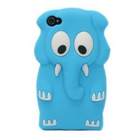 Cute 3D Animal Elephant Silicone Case Cover Skin
