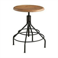 Industrial Adjustable Side Table/Stool