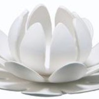 lotus ceramic tea light modern home decor accessor