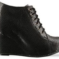 Jeffrey Campbell 99 Tie in Black Snake at Solestruck.com