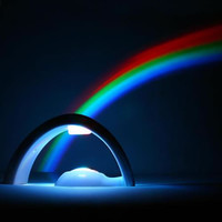 LED Rainbow Projector Lamp Night Light Room Decoration