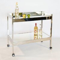 gold leaf bar cart modern home entertaining access