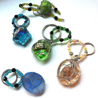 wish stone beaded keychains - your choice of color and shape