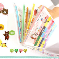 Happy Zoo - Cute Animals Diary Sticker Set with Sticker Collection Folder // Kawaii, Journal, Cartoon, Illustration // 8 Sheets, 300 Pieces