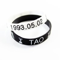 Amazon.com: Kpop Accessories Wristband TAO 2pc: Everything Else
