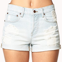 Vintage High Rise Destroyed Denim Shorts | FOREVER 21 - 2015035822