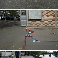 Colorful Yarn turns Potholes from Pock into Beauty Marks | Designs & Ideas on Dornob