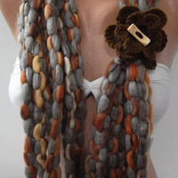 NEW Elegant scarf - Gorgeous  Accessories....so quality wool blend yarn