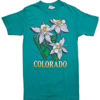 American Apparel - Vintage Colorado Rocky Mountain Columbine T-shirt