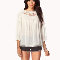 Georgette Peasant Top