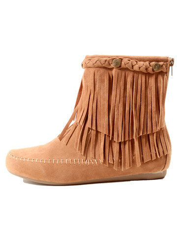 GYPSY WARRIOR - Fringe Moccasin Bootie