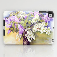 Lilacs bouquet iPad Case by Vargamari