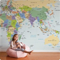 Removable Wallpaper: World Map