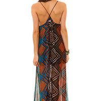 RVCA The Aifric Pattern Boho Maxi Dress in Shale : Karmaloop.com - Global Concrete Culture