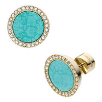 Michael Kors Pave Turquoise Slice Earrings