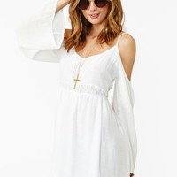 Meadow Crochet Dress - White