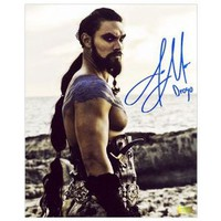 Amazon.com: Autographed King Photo - Jason Momoa Game of Thrones Warrior : 8x10 - Autographed NBA Photos: Collectibles