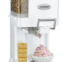Cuisinart Soft Serve Ice Cream Maker, Fully Automatic with Double Insulated Freezer Bowl and 3 Built-In Condiment Holders, Includes Built-In Cone Holder:Amazon:Kitchen & Dining