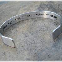 Secret Message Cuff Bracelet Personalized & Hand Stamped | MysticMoonJewelz - Jewelry on ArtFire