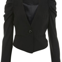 Gathered Shoulder Jacket - Coats  Jackets  - Clothing  - Miss Selfridge